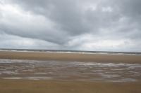 Pláž je zavodněná