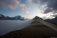 Mlha se valí přes Chavanes