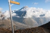 Výhled na Mt. Blanc z Mt. Fortin